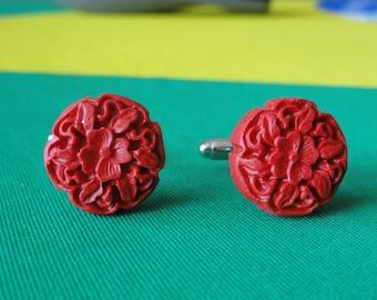 Red Rose Cufflinks