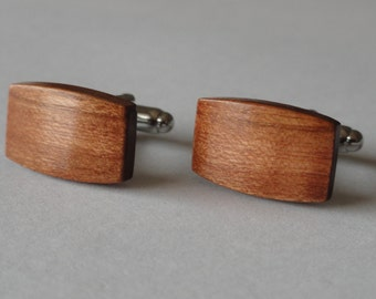 American Cherry Wood Cufflinks