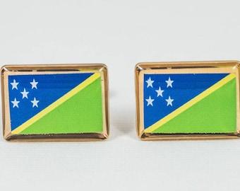 Solomon Islands Flag Cufflinks