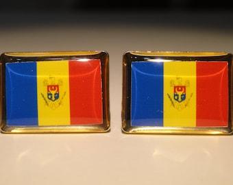 Moldovan Flag Cufflinks