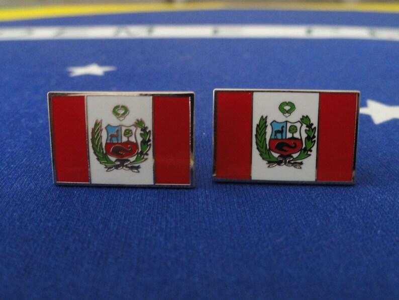 Peruvian Flag Cufflinks