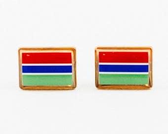 The Gambia Flag Cufflinks