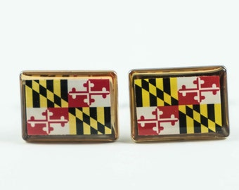 Maryland State Flag Cufflinks