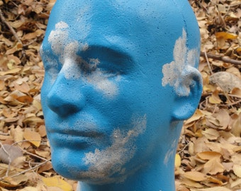 Sky Head--Head in the Clouds Painted Sculpture Art