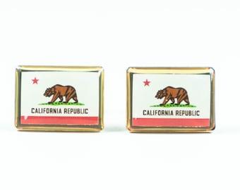 California State Flag Cufflinks