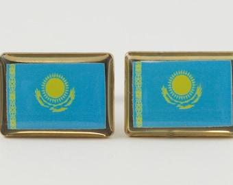 Kazakhstan Flag Cufflinks