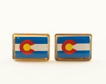 Colorado State Flag Cufflinks