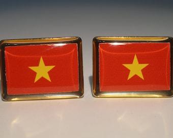 Vietnamese Flag Cufflinks