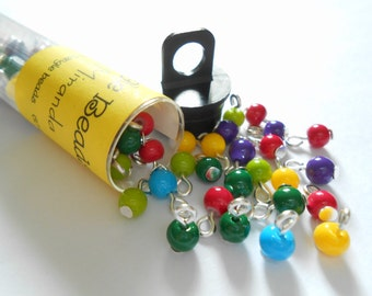 Tiny Colorful Opaque Dangle Beads
