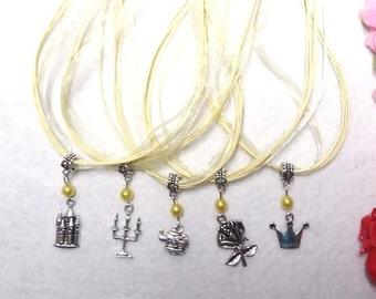 10 Necklaces Party Favors. Inspired by Princess Belle