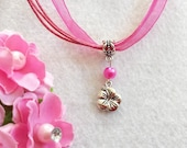 10 Hibiscus Flower Necklaces Party Favors