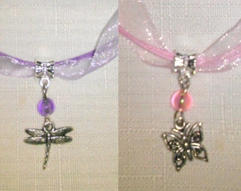10 Necklaces Party Favors. Dragonfly, Butterfly