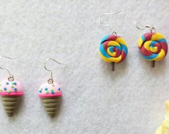 2 Pairs - Kawaii Food Earrings