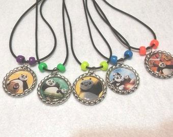 10 Kung Fu Panda Necklaces Party favors.