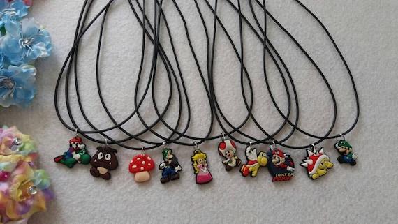 10 Super Mario  Silicone Necklaces Party Favors