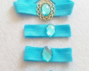 Princess Jasmine Blue Elastic Headband and Hair Bands.