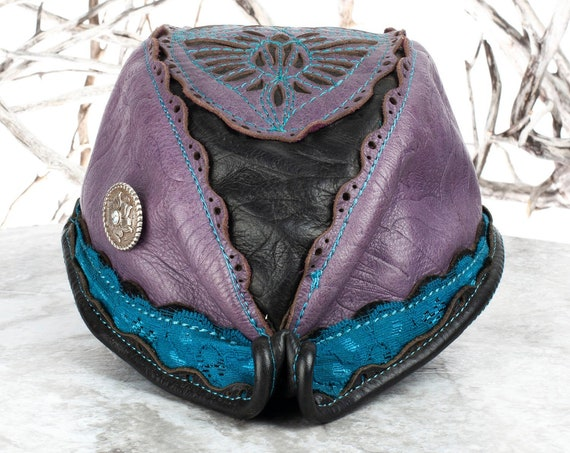 "Elven Leather Hat | Reveille Hat | Filigree Leather | Size S/M | 21.5"" Head 