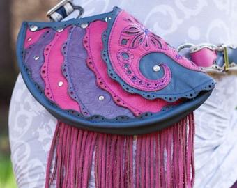 Chrysalis Leather Sling Bag | Hip Bag | Hip Belt | Utility Belt | Leather Purse | Modular | Festival Wear | Burning Man | Women's Wallet