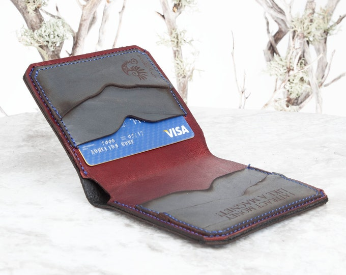 Leather Wallet, Bifold Wallet, Minimalist Wallet, Leather Card Holder, Slim Wallet, Credit Card Wallet, Card Wallet, Wallet, Engraved Wallet
