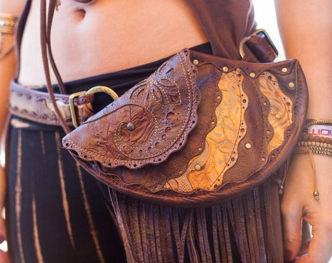 CUSTOM Made to Order   Chrysalis Leather Sling Purse   Hip Belt   Utility Belt   Hip Bag   Modular   OSFA   Festival Wear   Burning Man