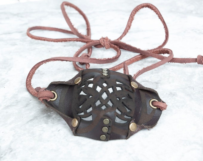 Brown Eye Patch, Leather Eye Patch, Filigree Eye Patch, U CAN SEE Whilst Wearing!, Eye Patch, Pirate Eye Patch, Steampunk, Pirate Costume