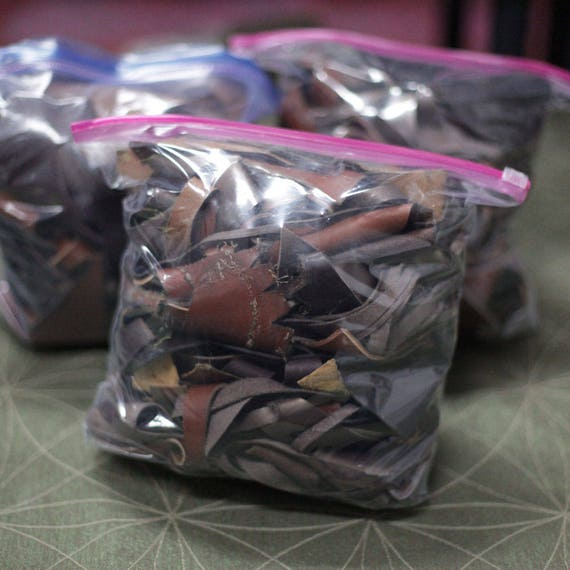 Latigo Leather Scrap   2LB Bag   Assorted Tan & Brown   Laser Cut   Leather Remnants   Leathercraft   DIY   Great 4 Small Handcraft Projects