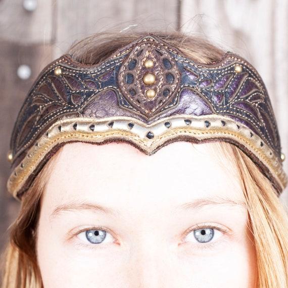 Elven Leather Crown, Game of Thrones, Bridal Headpiece, Leather, Elven Tiara, Elven Crown, Medieval Crown, Fairy Costume, Top Selling Items