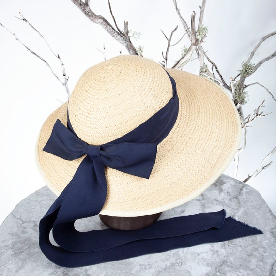 1910's Vintage Straw Hat, XS Hat, Straw Hat, Sun … - image 6