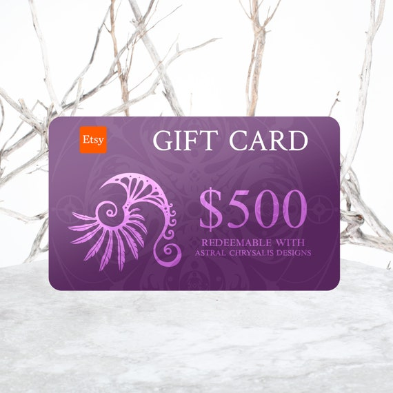Gift Certificate, 500 Dollar Gift Voucher, Last Minute Gifts, Gift Card, Digital Gift Card + Personalized Leather Keepsake, Stocking Stuffer