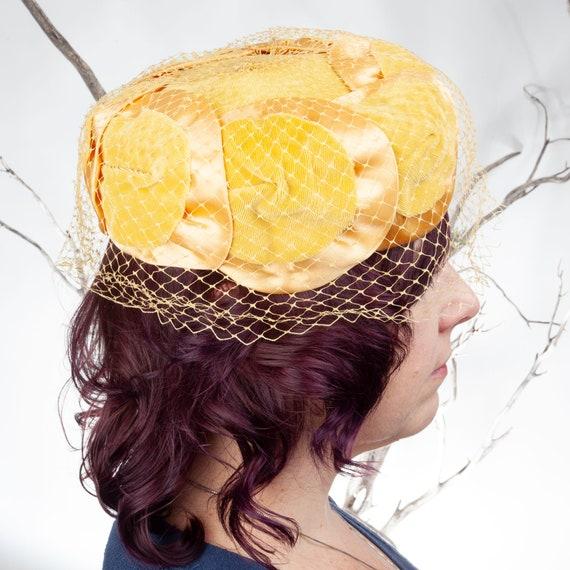 1950s, Vintage Hat, Yellow Hat, 1950s Hat, Pillbo… - image 7