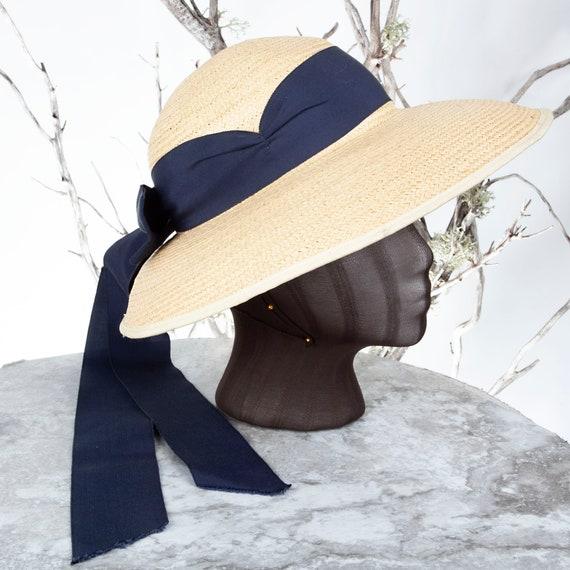 1910's Vintage Straw Hat, XS Hat, Straw Hat, Sun H