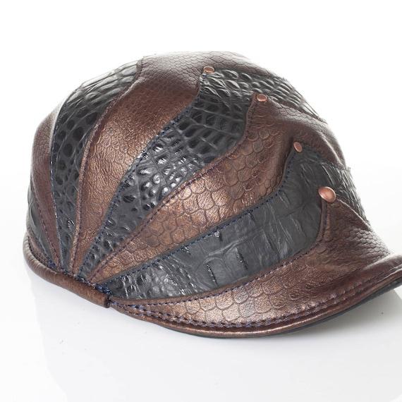 "Leather Hat, Cap, Newsboy Hat, Flat Cap, Pageboy Hat, 22.5"" Head, Polo Sport, Polo Hat, Soviet Cap, Newsie Hat, Baker Boy Hat, Golf Hat"