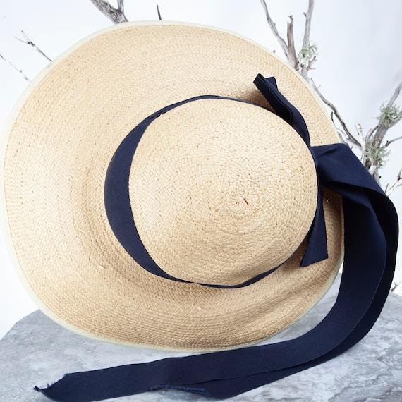 1910's Vintage Straw Hat, XS Hat, Straw Hat, Sun … - image 10