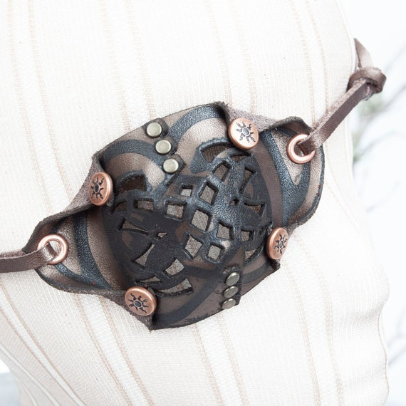 Bronze Eye Patch, Leather Eye Patch, Filigree Eye Patch, U CAN SEE Whilst Wearing!, Pirate Eye Patch, Steampunk, Pirate Costume, Pirate