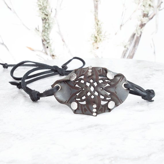 Gray Leather Eye Patch, Filigree Eyepatch, Pirate Eyepatch, U Can See Whilst Wearing! Costume, Pirate Costume, Pirate, Wasteland Weekend