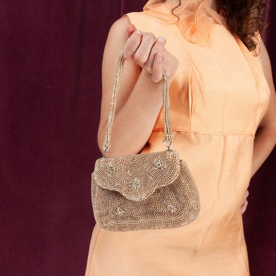 1950s, Vintage Beaded Purse,Vintage Evening Bag, 5