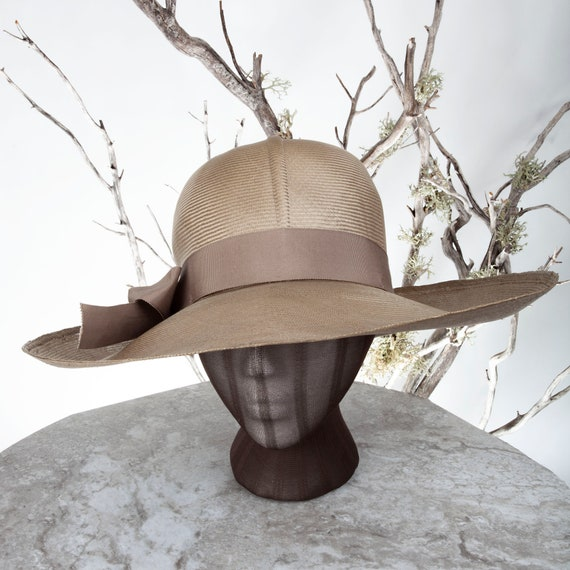 1950s MAY-D&F Vintage Straw Hat, 1950s Hat, Straw