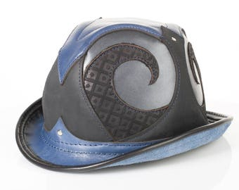 """Rapscallion Leather Bowler 
