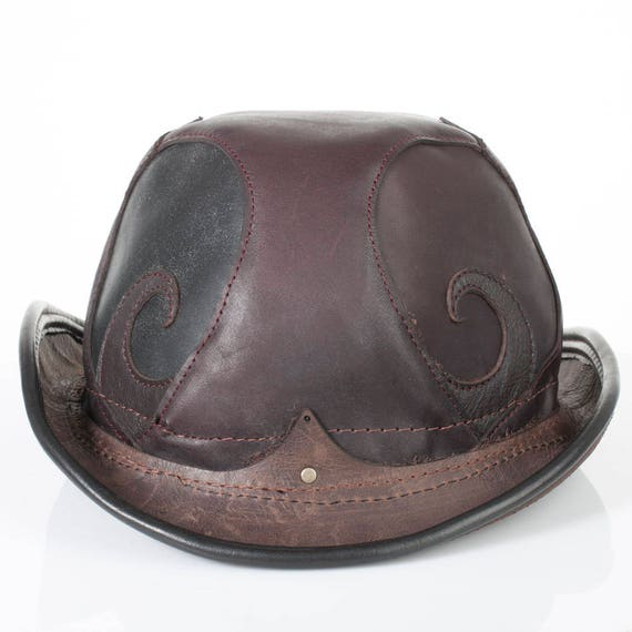 c067af4990 Rapscallion Leather Bowler 25 3 4 Head XL Hat