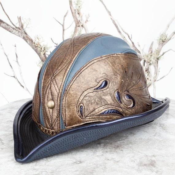 Steampunk Hat, Leather Hat, Pirate Hat, Captains Hat, Airship, Burning Man, Steampunk Costume, Larp, Burning Man Hat, Leather, Hat, Mens Cap