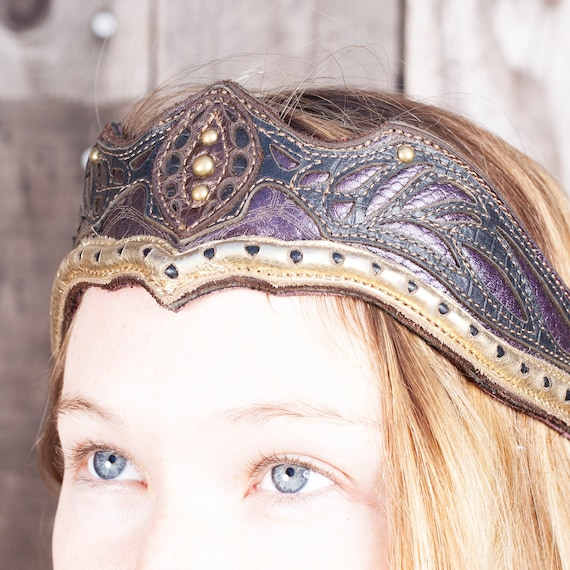 Elven Leather Crown, Game of Thrones, Bridal Headpiece, Leather, Elven Tiara, Elven Crown, Medieval Crown, Fairy Costume, Top Selling Items