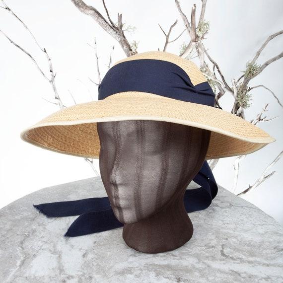 1910's Vintage Straw Hat, XS Hat, Straw Hat, Sun … - image 3