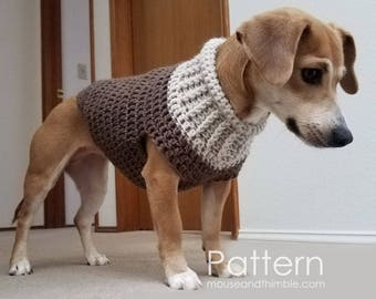 Crochet dog sweater