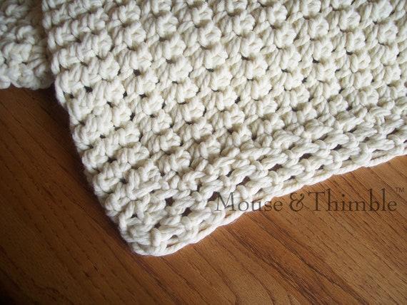 Crochet Blanket Pattern Easy Beginner Chunky Afghan Sofa Etsy