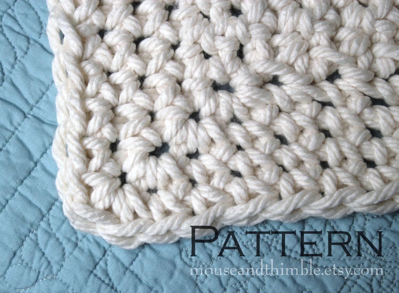 Crochet PATTERN / Easy / Queen Size Chunky Afghan Blanket /   Etsy