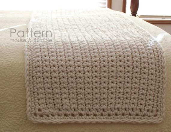 Bulky Bed Runner Full Queen King Beginner Crochet Etsy
