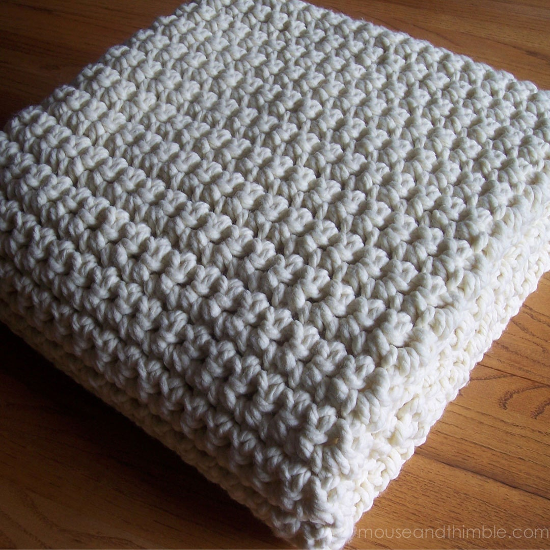 Extra Large Chunky Afghan Blanket Quick Amp Easy Crochet