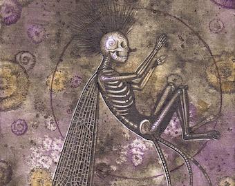 Fantasy Art Print- Relics in the Earth - 5x7 Open Edition Print - Fantasy Surreal Faerie Art
