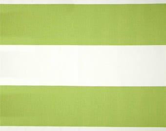 1/2 Yard Kiwi Green Cabana Stripe Fabric - Premier Prints Thick Stripes - Stripe Fabric by the Yard - Green Stripe. Green Fabric. Lime Green