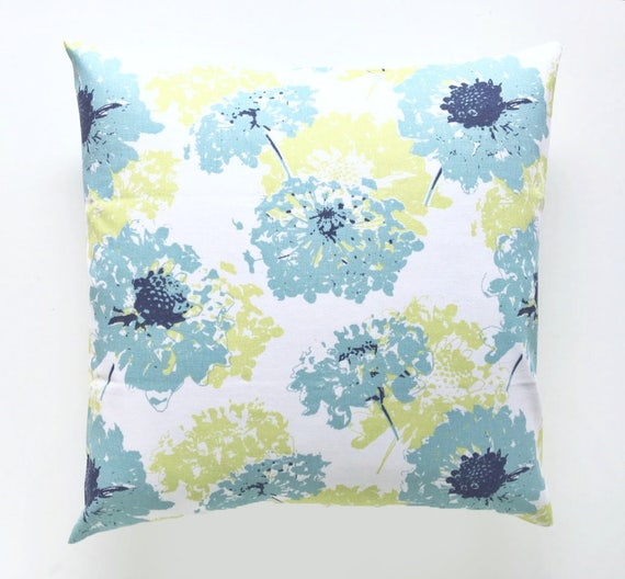 Floral Fairy Pillow Cover. Navy and